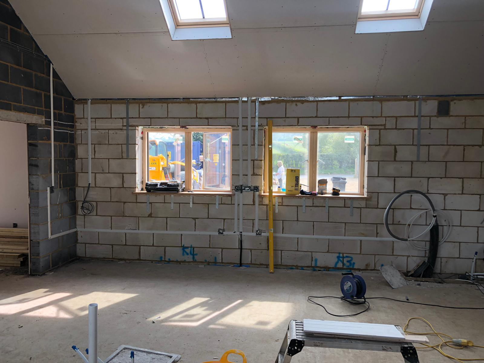 Electrical First Fix in a New Extension